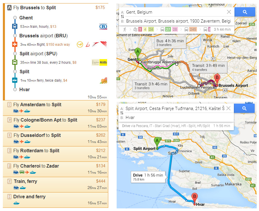 Google Maps to outRome2rio Rome2rio We dont think so Rome2rio – Transport Map Brussels
