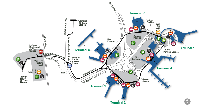 PDF map of JFK airport, New York City