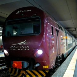 Malpensa Express train travel between Malpensa airport and Milan city centre