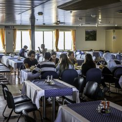 Dining area inside Jadrolinija ferry