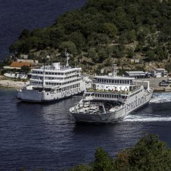 Jadrolinija ferries in Croatian port