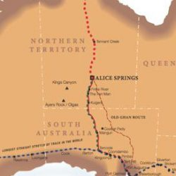 The Ghan train map
