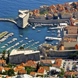 The port of Dubrovnik