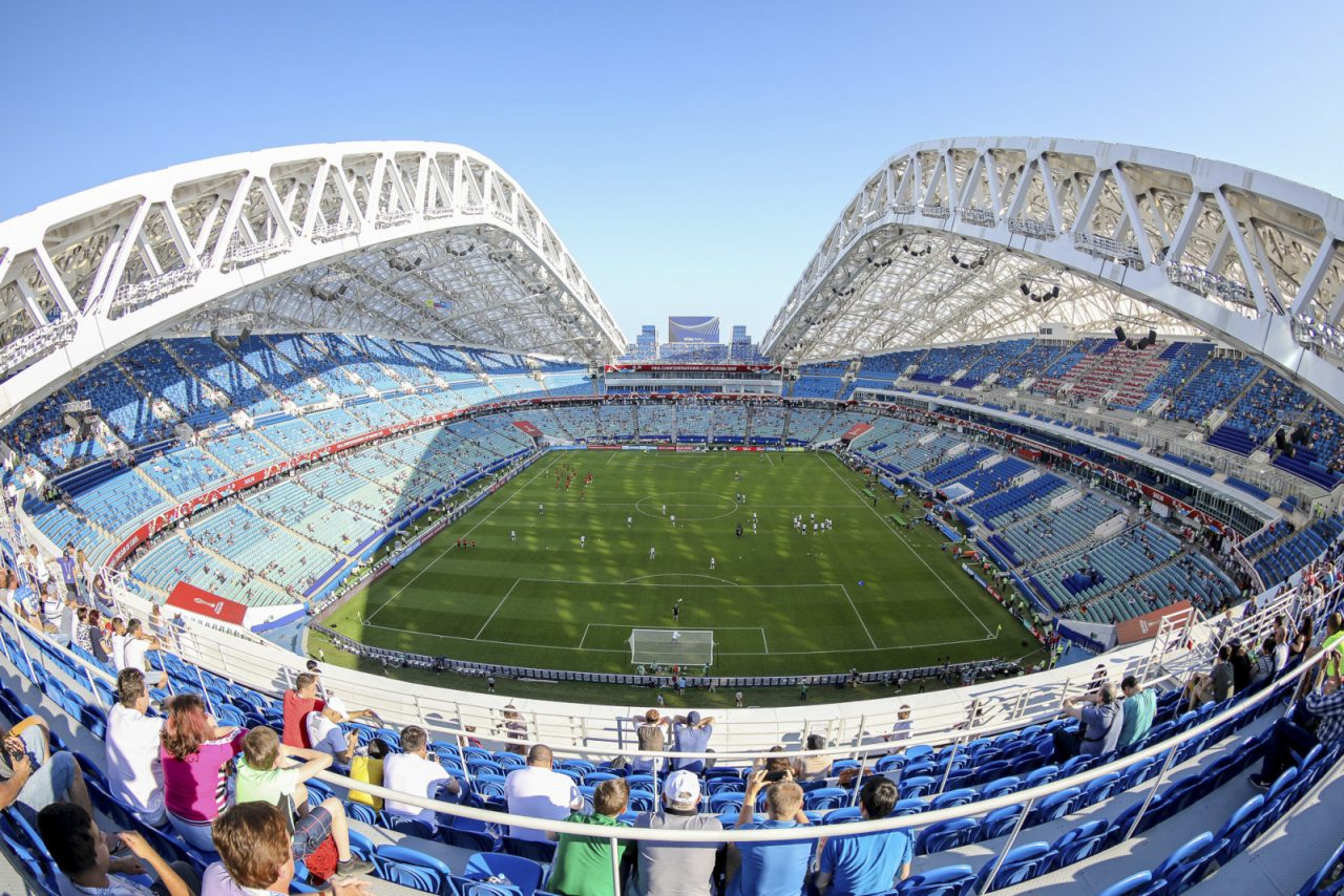Fisht Stadium, Sochi hosts six matches, including a quarter-final.
