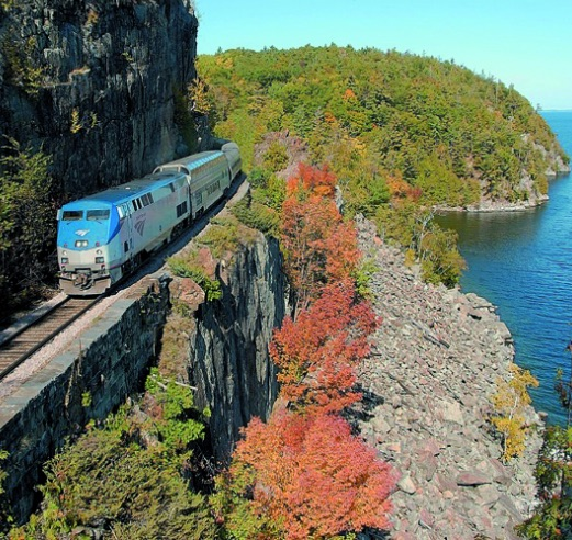 Amtrak Adirondack Train