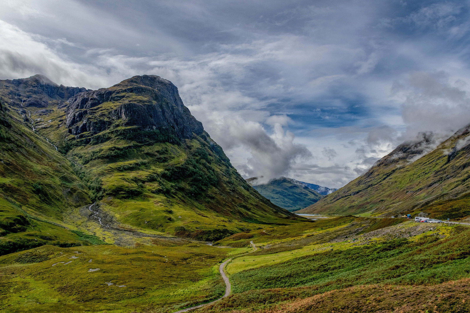 Glencoe, Highlands, Scotland Britain by car